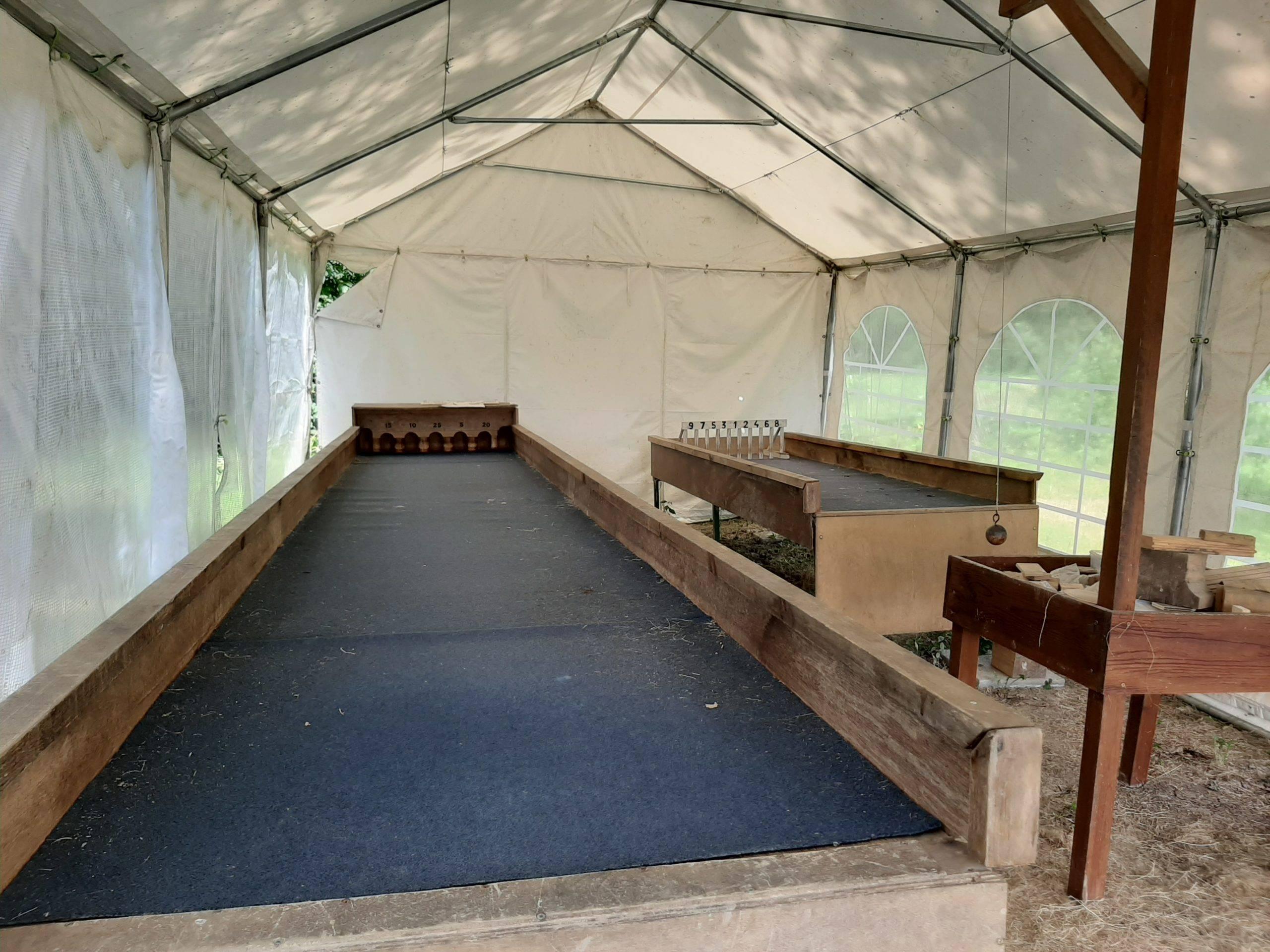 Camping La Chaumière jeux flamands en bois