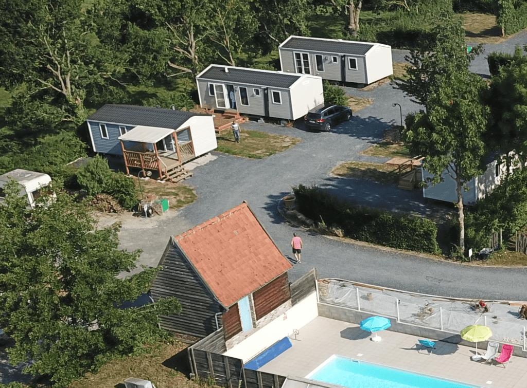 Camping La Chaumière vue aérienne